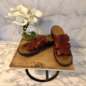 Naturalizer Brown Leather Tribal Sandals Size 7.5